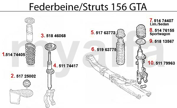 Veerpoot 3.2 V6 24V/GTA