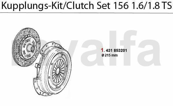 Koppelings-kit 1.6/1.8 TS 16V