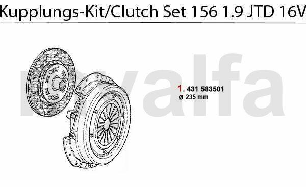 Koppelings-kit 1.9 JTD 16V