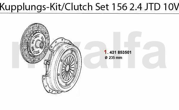 Koppelings-kit 2.4 JTD 10v