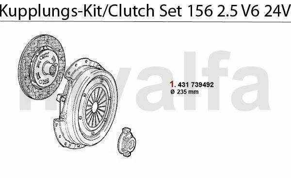 Koppelings-kit 2.5 V6 24V
