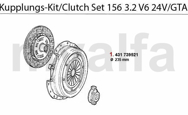 Koppelings-kit 3.2 V6 24V/GTA