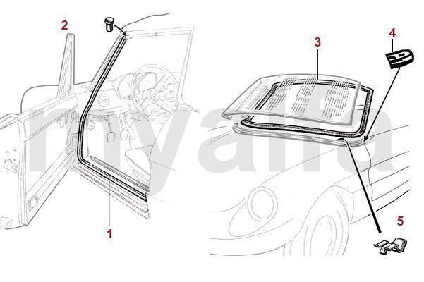 Alfa Romeo SCREENSEAL/DOORSEAL - RUBBER SEALS - BODY PARTS