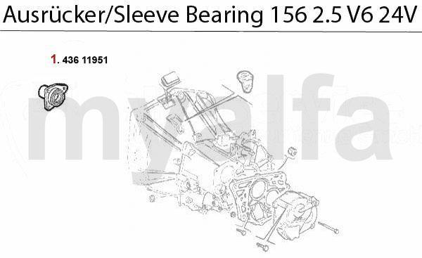 Geleidinghuls druklager 2.5 V6 24V