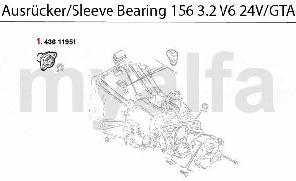 Geleidinghuls druklager 3.2 V6 24V/GT
