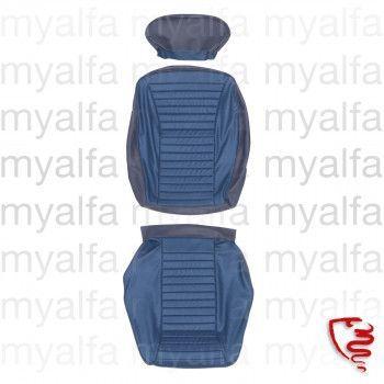 Sitzbezug vorne Montreal      Leder/Stoff blau              889+666