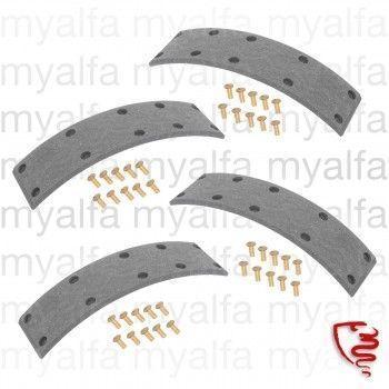 Bremsbeläge (4 STK.) zum Nieten - 750/101 - vorne 2-Backenbremse für  Backe 1365.53.026