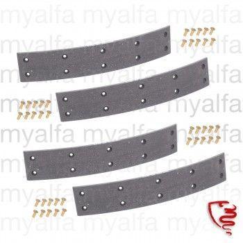 Satz Bremsbeläge (4 STK.) - 101 - hinten für schmale Trommel mit Nieten
