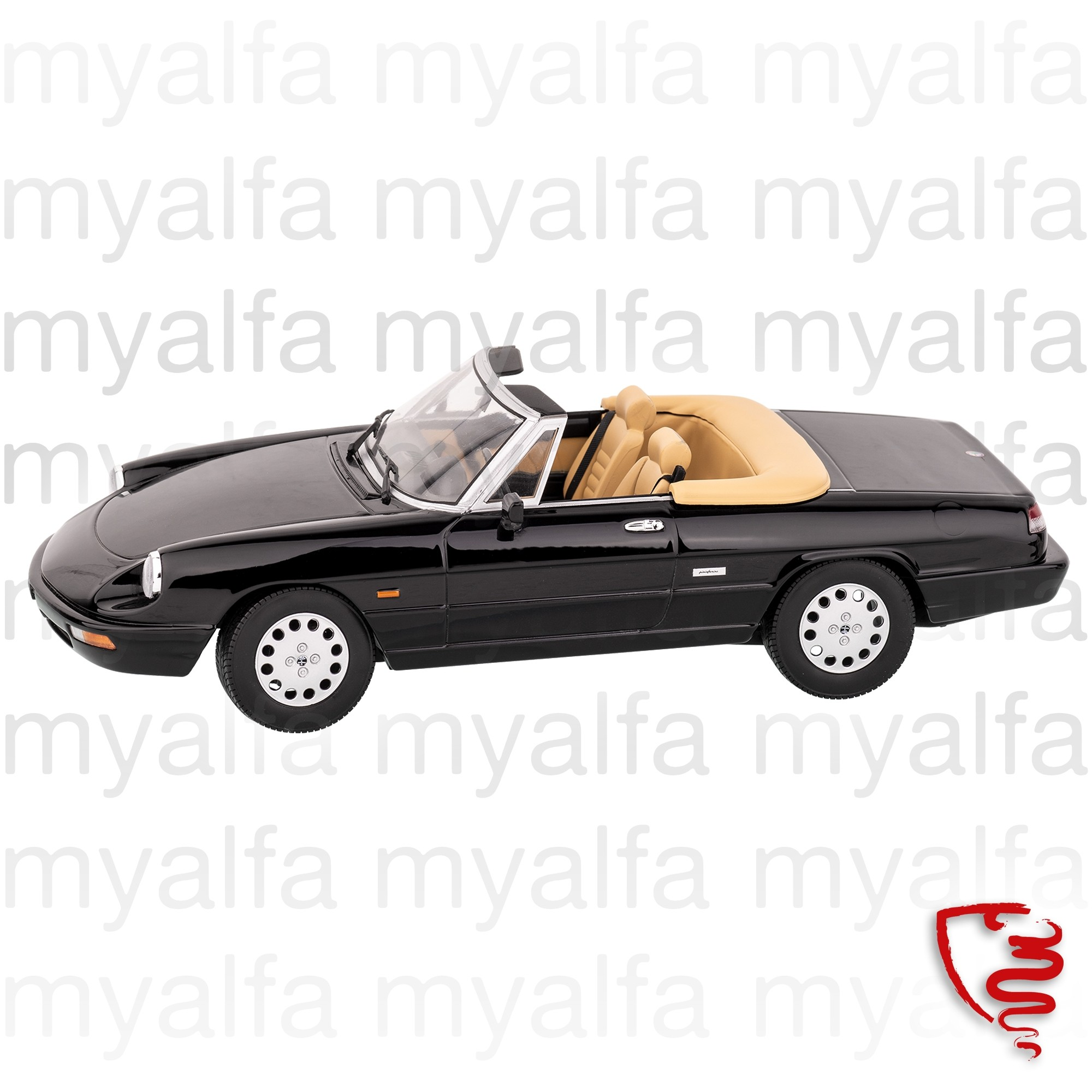 Alfa Romeo Alfa Romeo Spider Bj,1990-93 Zwart 1:18