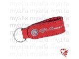 Original Alfa Romeo           Schlüsselanhänger, Leder rot