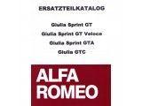 Onderdelenboek Giulia      Sprint GT/GT Veloce/GTA/GTC,  510 paginas