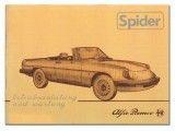 Bedieningshandleiding  Spider    Bj.1983-85 (nadruk)
