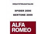 Onderdelencatalogus 2000 Spider/GT Bertone(670 blz )