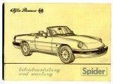 Instructieboekje Spider Bj. 1986-89(nadruk)
