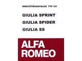 Onderdelenboek Typ 101     Giulia Sprint/Spider/SS,      500 paginas