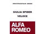 Onderdelenboek  toevoegong op 952 101 0 Giulia Spider Veloce (ital.), 140 paginas